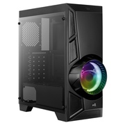 AEROCOOL ADVANCED TECHNOLOGIES Aerocool AeroEngine RGB - Midi-Tower - PC - ABS Synthetik - SPCC - Schwarz - ATX,Micro ATX,Mini-ITX - Gaming