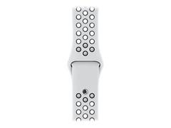 Apple 38mm Nike Sport Band - Uhrarmband - 130-200 mm - pures Platin/schwarz - für Watch (38 mm, 40 mm)