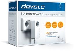 Devolo LAN 1200Mbit/s Powerline Komfort Plus Adapter - Starterset - Stromnetz (Powerline)