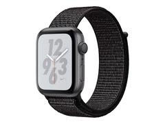 """Apple Watch Nike+ Series 4 (GPS) - 40 mm - Weltraum grau Aluminium - intelligente Uhr mit Nike Sportschleife - gewebtes Nylon - schwarz - Bandgröße 130-190 mm - Anzeige 4 cm (1.57"""")"""
