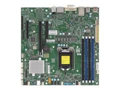 Supermicro X11SCZ-Q - Motherboard - micro ATX - LGA1151 Socket - Q370 - USB 3.0, USB 3.1, USB-C - 2 x Gigabit LAN - Onboard-Grafik (CPU erforderlich)