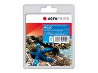 AgfaPhoto 28 ml - Cyan - Tintenpatrone (Alternative zu: HP 11, HP C4836A, HP C4811A)