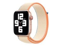 Apple 44mm Sport Loop - Uhrarmband für Smartwatch - Normalgröße - Cremefarben - Demo - für Watch (42 mm, 44 mm)