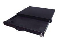 "Aixcase AIX-19K1U-B - Rack Keyboard Shelf - Schwarz, RAL 9005 - 1U - 48.3 cm (19"")"