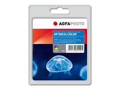 AgfaPhoto 18 ml - Farbe (Cyan, Magenta, Gelb) - Tintenpatrone (Alternative zu: HP 300XL, HP CC644EE)