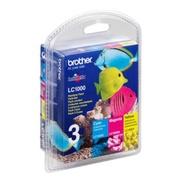 Brother LC1000 RainbowPack - 3er-Pack - Gelb, Cyan, Magenta