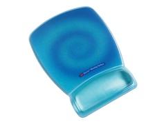 3M Precise Mousing Blue Swirl Design - Mauspad