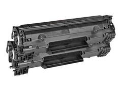 AgfaPhoto 2er-Pack - Schwarz - Tonerpatrone (Alternative zu: HP 36A, HP CB436A, HP CB436AD)