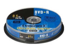 Intenso 10 x DVD+R DL - 8.5 GB 8x - Spindel