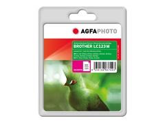 AgfaPhoto 11 ml - Magenta - Tintenpatrone (Alternative zu: Brother LC123M)