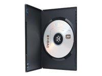 ednet. SLIM SINGLE BOX - Flaches Jewel-Case für CD/DVD-Aufbewahrung - Kapazität: 1 CD/DVD - Schwarz (Packung mit 10)