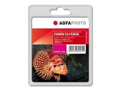 AgfaPhoto 10.5 ml - Magenta - Tintenpatrone (Alternative zu: Canon CLI-526M, Canon 4542B001)