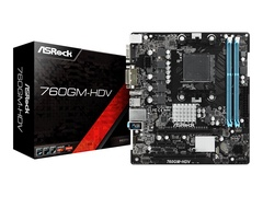 ASRock 760GM-HDV - Motherboard - micro ATX - Socket AM3+ - AMD 760G - Gigabit LAN - Onboard-Grafik - HD Audio (8-Kanal)