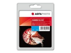 AgfaPhoto 15.5 ml - Cyan - Tintenpatrone (Alternative zu: Canon CLI-8C, Canon 0621B001)