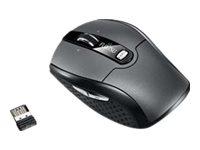 Fujitsu WI610 - Maus - rechts- und linkshändig - Laser - 6 Tasten - kabellos - 2.4 GHz - kabelloser Empfänger (USB)
